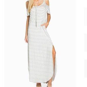 Dresses & Skirts - Cold Shoulder Maxi Dress